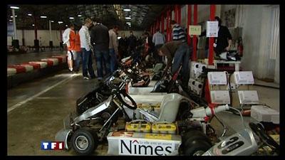 Le challenge e-Kart 2009 au JT de 20h sur TF1