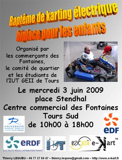 Kart électrique aux Fontaines