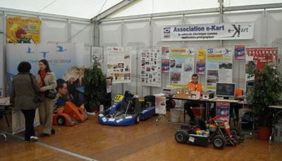 Le stand de l'Association e-Kart à Monts