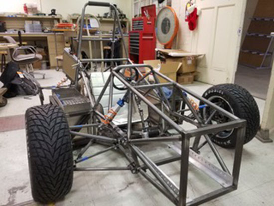 Wyoming Motorsports build a electric drivetrain formula-style race