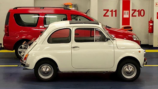 Electric conversion of a FIAT 500