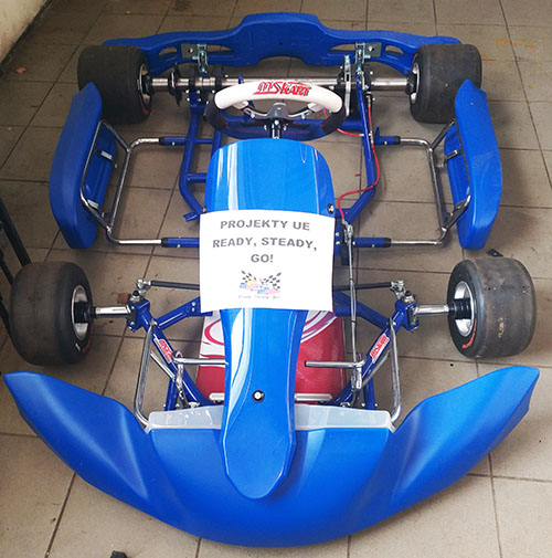 Electric kart for  the
