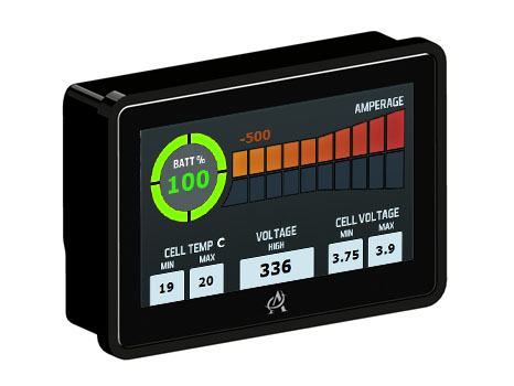 The Intelli-Gauge decodes CAN bus data onto a 4.2″ HMI screen.