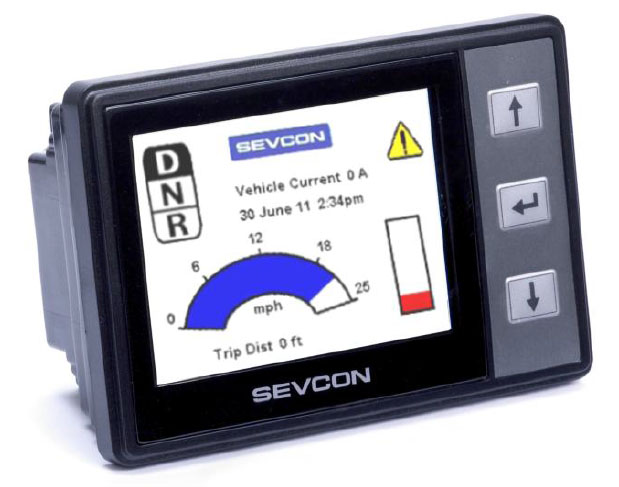 SEVCON Clearview configurable CANopen colour display